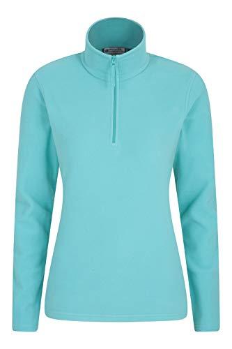 Mountain Warehouse Camber Damen-Fleece mit halbem Reißverschluss - atmungsaktiv, leicht, warm, fusselfrei, mit hoher Feuchtigkeitsregulierung - für den Winter Minze M