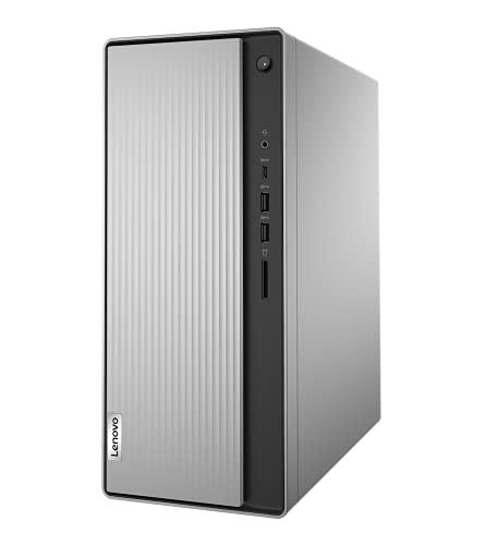 Lenovo IdeaCentre 5 Desktop - (Processore AMD Ryzen 5 4600G, 512GB SSD, 8GB RAM, Tastiera e Mouse USB, DVD±RW, Windows 10) - Mineral Grey