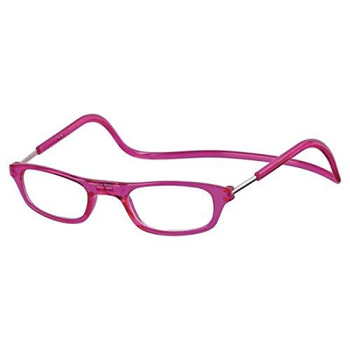 Kost Lesebrille mit Magnetverschluss für Sie & Ihn fuchsia Lesehilfe Fertigbrille +2,0