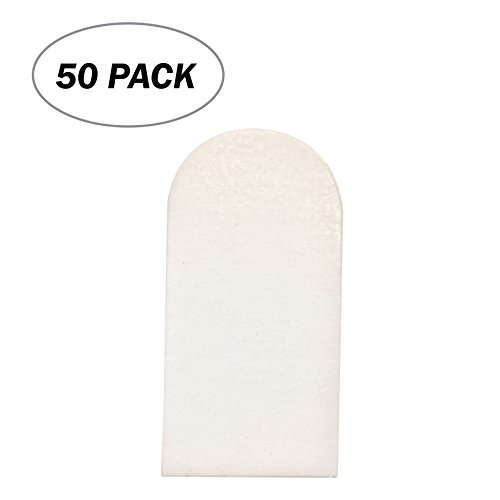 Board Game Pieces- 50 Pack- Blank 1 x 2 inches Rectangular Tombstone Diecut Token Cards Board Game Chits Tiles Counters Markers DIY D&D