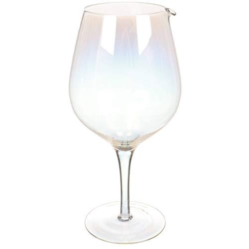 CKB LTD® LUSTRE Jumbo Wijnglas DECANTER XL 1.8 L Extra Grote Novelty Drinks Karaf In De vorm van een groot glas Wijn HOLDS 2 flessen wijn voor Cocktails | Mooie kleurrijke Effect Glaswerk