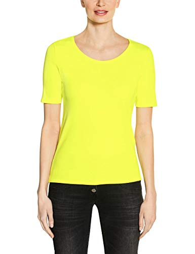 Cecil Damen Lena T-Shirt, neon Lemon, XX-Large