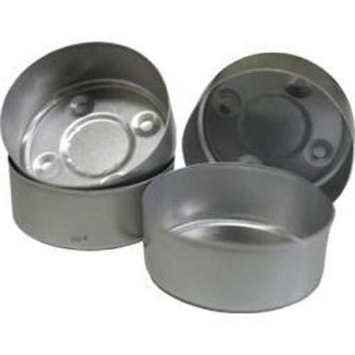 Germerott Bienentechnik Alu Teelichthüllen rund Silber für Teelichter Abmessungen 39 x 18 mm verpackt zu 200 Stück - Preis pro Stück 0,06 Euro
