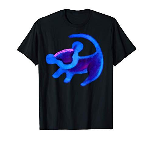 Disney Lion King Simba Cave Painting Blue Hue T-Shirt