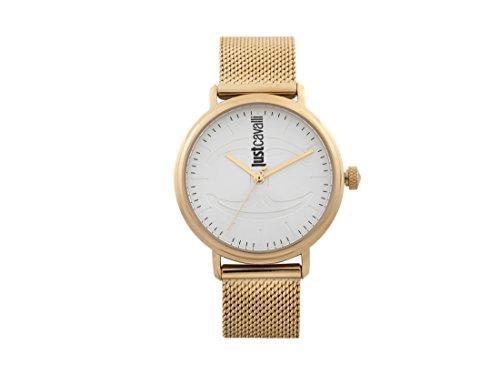Just Cavalli Damen Datum klassisch Quarz Uhr mit Edelstahl Armband JC1L012M0075