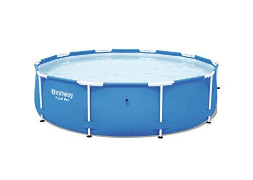Bestway Steel Pro Frame Pool ohne Pumpe, rund 305x76cm Stahlrahmenpool, blau
