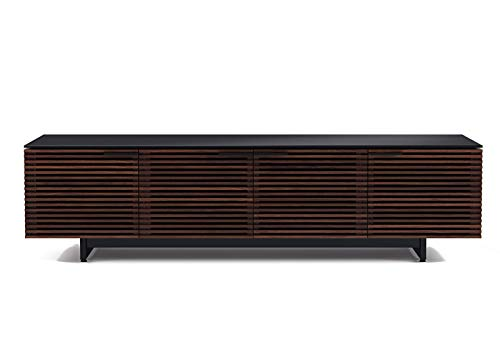 BDI Furniture Corridor Low Media Cabinet, Chocolate Stained Walnut