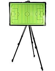 Magnetische Voetbal Coaching Board Tactiek Strategie, Voetbal Coaching Board, Roestvrijstalen Tactisch Bord, met Standaard, Markeerstift, Gum en Een Set Magneten