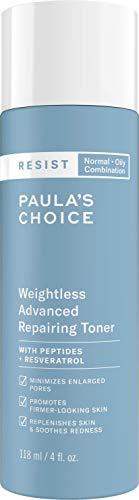 Paula's Choice Resist Anti-Aging Huidherstellende Toner - Lotion voor een Schone en Frisse Huid - Gaat Huidveroudering tegen - met Niacinamide & Hyaluronzuur - Gecombineerde tot Vette Huid - 118 ml