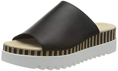 Gabor Shoes Damen Casual' Pantoletten, Schwarz (Schwarz (Blurosso./Natur) 27), 36 EU
