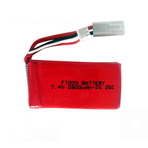 Batería Lipo de 7.4V 2800mAh 25C para Feilun FT009 RC Boat Repuestos 4s 11.1v batería Recargable EL2PPlug