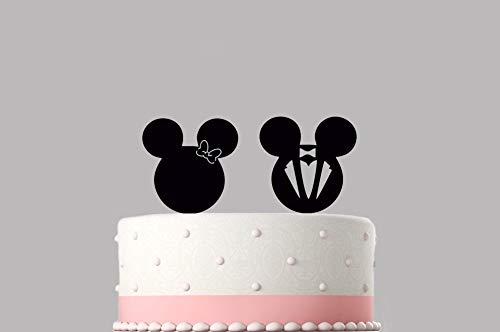 Mickey Mouse Minnie Mouse bruiloft acryl taart topper verschillende kleuren & maten hoge kwaliteit item Keepsake niet Card-Stock.219
