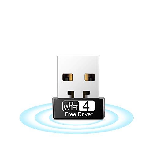 WiFi Stick, WLAN Adapter 150Mbps (2.4G/150Mbps) Wireless USB Adapter Empfänger 802.11ac/n/g/b Netzwerk Dongles,für PC,für Windows XP/7/8/10/Vista TV Box Keine CD benötigt Plug & Play