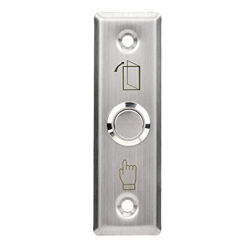Botón de puerta de instalación oculto duradero, botón de apertura de puerta de brillo completo, sistema de seguridad Sistema de control de acceso para la seguridad del hogar Sistema
