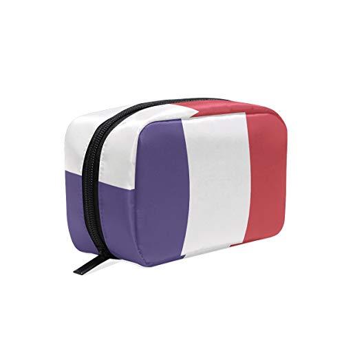 trousse cosmétique drapeau france pochette maquillage zip