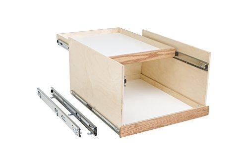 "Slide-A-Shelf AMC-PL-DDU-15W18D14H-F Baltic Birch Double Dek System with Full Extension, 15"" x 18"" x 14"""