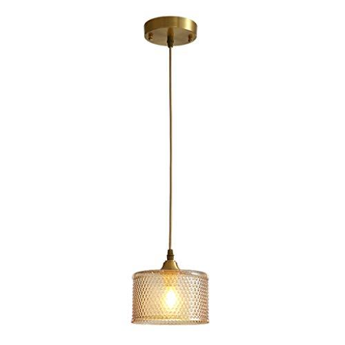 HONGFEISHANGMAO Lampara Colgante Dormitorio de Noche pequeña lámpara del Restaurante Balcón Personalidad Creativa Pantalla Retro lámparas de araña Moderna Minimalista Lámpara de araña lamparas Techo