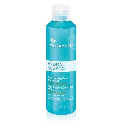 Yves Rocher HYDRA VÉGÉTAL feuchtigkeitsspendende Reinigungsmilch, Gesichtsreinigung auch für Augen & Make-up, 1 x Flacon 200 ml