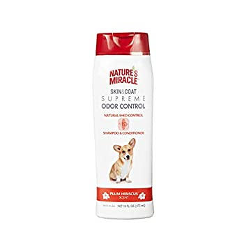 Nature s Miracle Supreme 4N1 Odor and Shed Control Shampoo & Conditioner 16 oz.