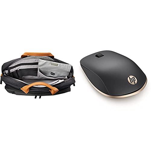 HP Envy Urban Topload (3KJ73AA ) Laptoptasche (15,6 Zoll) grau & Z5000 (W2Q00AA) kabellose Maus (Bluetooth, 1.200 DPI, 3 Tasten, Scrollrad) schwarz / Gold