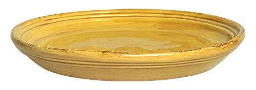 ColÌ maioliche et Terrecotte Depuis 1650Paille Plat Rond, Terre Cuite, Jaune, 38x 38x 8cm