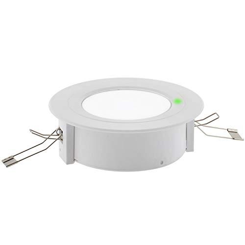 Luz de emergencia LED ZOR, Superficie/Empotrado, Blanco frío