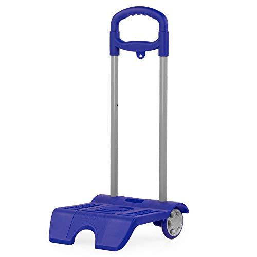 SKPAT - Carro Escolar con Ruedas Ligero y Resistente para Mochilas Escolares Infantiles niño niña adaptables a Cualquier Mochila en 6 Colores 1015, Color Azulon