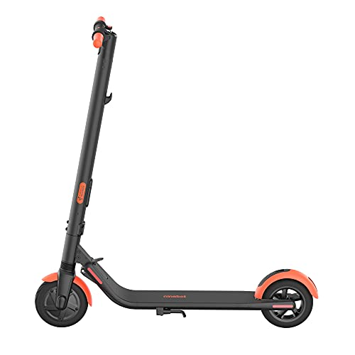Segway Ninebot ES1L Electric Kick Scooter, Lightweight and Foldable, Upgraded Motor and Battery Pack, 8-inch Inner-Support Hollow Tires, Dark Grey & Orange