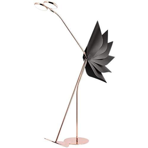 PLAYH Nach Stehlampe Moderne Persönlichkeit Lampe Designer Wohnzimmer Modell Roségold Rot Strauß Low Net Wohnzimmer Schlafzimmer Nachttischlampe Innenbeleuchtung