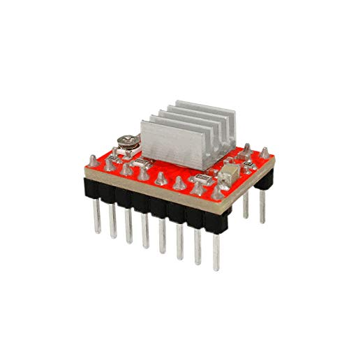 Digitaal 1pcs A4988 Stepper Motor Driver Module for 3D Printe Met Heat Sink Accessory