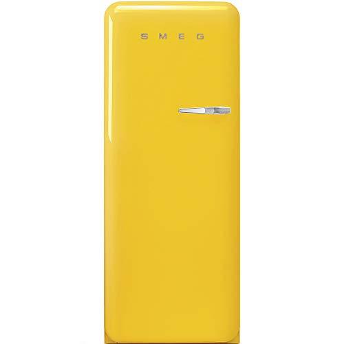 Smeg Frigorifero monoporta anni 50 FAB28LYW3 finitura giallo da 60 cm cerniera SX