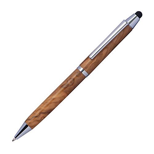 Holz-Kugelschreiber aus Olivenholz mit Touchfunktion, blauschreibende Mine, versch. Set-Größen von notrash2003 (1er Set)