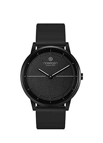 NOERDEN MATE2 Hybrid Smart Watch 5ATM Waterproof Stainless Steel Sapphire Glass Multi-Sport Activity Fitness Tracking (Steps, Calories, Distance), and Smartphone Notifications (Black)
