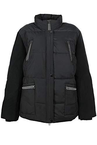 Sheego Steppjacke Winterjacke Anorak Parka Wattiert Damen Plusgröße, Farbe:schwarz, Damengrößen:44