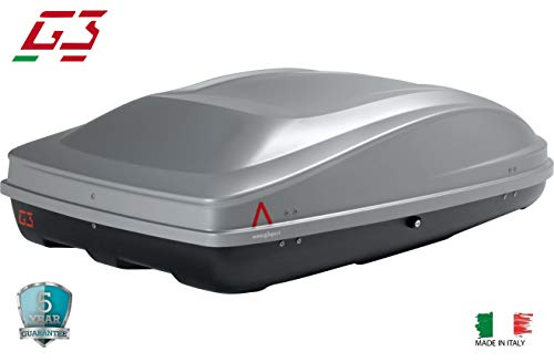 G3 Cargo Box Spark.eco 400 Roof Box Top Cargo Carrier Mount Cargo Travel Storage Waterproof Outdoors