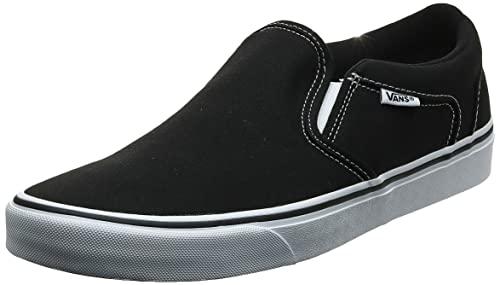 Vans Asher Sneaker, Zapatillas Hombre, Negro (Black/White 187), 42 EU