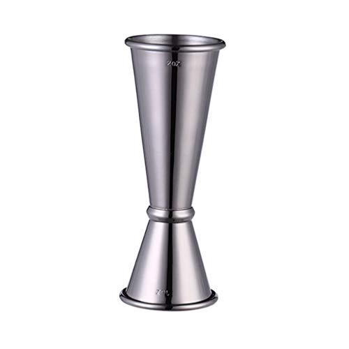 ZLDGYG Taza de Onza de Onza de Copa de medición de Doble Cabeza de Acero Inoxidable con Escamas Interiores y Exteriores de la Barra de cóctel de Vidrio (Color : D)
