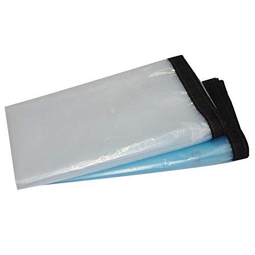 Lona Transparente Engrosada Tela a Prueba de Lluvia Anti-Viento Sun Canvas Carpa Cubierta de cobertizo para Plantas Cortina de Pantalla (Color: Blanco Tamaño: 2 & Times; 3 M)