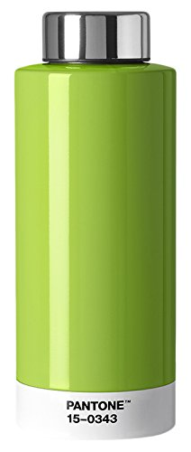 Copenhagen design 101090343 Pantone Drinking, Stainless Steel Water Bottle, 630 ML, Greenery, Color of The Year, Acier Inoxydable, Green 15-0343, One Size