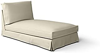 Comfort Works Custom Made SLIPCOVERS for Kivik Chaise Lounge Long Skirt Sand Beige