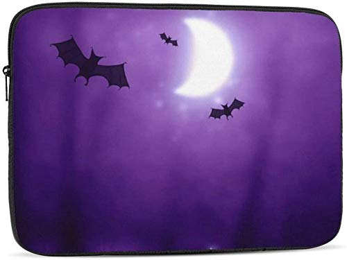 Purple Night Bats Print Laptop Sleeve, Shockproof Notebook Briefcase Laptop Case Protective Bag Tablet Carrying Case 10-17 Inch for MacBook Pro/MacBook Air/Lenovo/Hp/Samsung/Sony