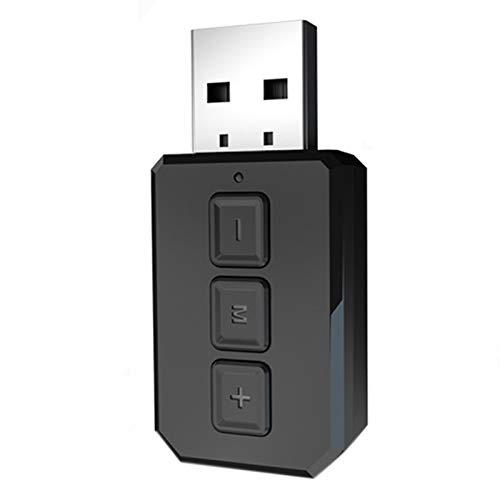 Bobin Transmisor Receptor de Audio USB 5,0 AUX RCA 3,5 MM Adaptadores EstéReo Dongle con MicróFono para Coche TV PC Auriculares