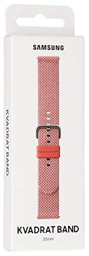 Samsung Kvadrat Band für Samsung Galaxy Watch Active 1, 2 - rot