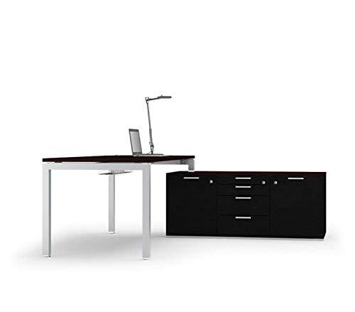 Bralco Schreibtisch mit Sideboard Gate, Chef Schreibtisch, Chefbüro, hochwertige Büromöbel