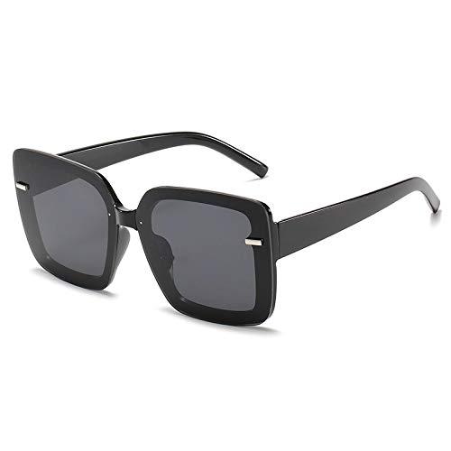 Gafas De Sol Gafas De Sol Cuadradas De Gran Tamaño Gafas De Sol para Mujer Gafas De Sol De Conducción De Diseñador De Lujo Tonos Femeninos Uv400 C1Black