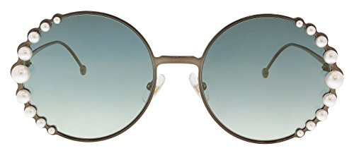 FENDI Gafas de Sol RIBBONS AND PEARLS FF 0295/S COPPER/GREY GREEN SHADED 58/20/135 mujer