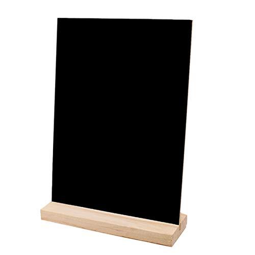 Healifty Memotafel mit Stand-Füße Tischaufsteller Tafel Preisschilder abnehmbar für Hochzeit Cafe Zeichen Sign ca. 21 x 15cm