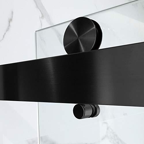 WOODBRIDGE SDD6062-MBL Frameless Bathtub Shower Doors 56-60