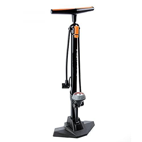 Bomba de bicicleta con calibre, bomba de neumáticos para bicicletas para bicicleta de carretera, bomba de bicicleta compatible con la válvula Presta y Schrader, MTB, bolas (160 psi de alta presión)