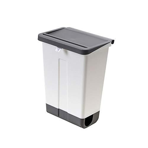 Caijielajt cubo basura La basura de la cocina puede montado en pared de plástico papelera de reciclaje de residuos de compost cubo de la basura titular bolsa contenedor de residuos del baño Cubo de ba